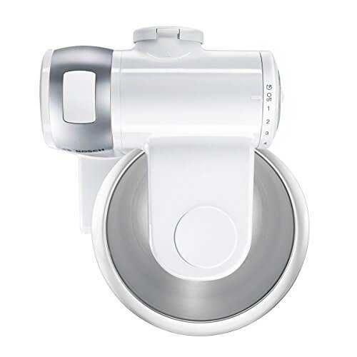 Bosch MUM4880 Küchenmaschine MUM4 (600 Watt, Edelstahl-Rührschüssel, Durchlaufschnitzler, Mixeraufsatz Kunststoff, Fleischwolf, Zitruspresse, Rezept DVD) weiß -